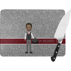 Lawyer / Attorney Avatar Rectangular Glass Cutting Board (Personalized)