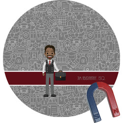 Lawyer / Attorney Avatar Round Fridge Magnet (Personalized)