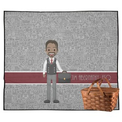 Lawyer / Attorney Avatar Outdoor Picnic Blanket (Personalized)