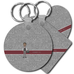 Lawyer / Attorney Avatar Plastic Keychains (Personalized)