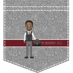Lawyer / Attorney Avatar Iron On Faux Pocket (Personalized)
