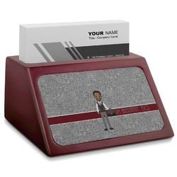 Lawyer / Attorney Avatar Red Mahogany Business Card Holder (Personalized)