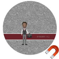Lawyer / Attorney Avatar Round Car Magnet (Personalized)