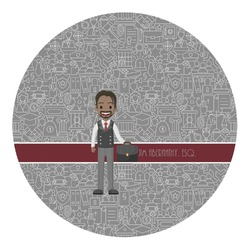 Lawyer / Attorney Avatar Round Decal (Personalized)