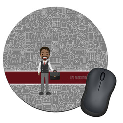 Lawyer / Attorney Avatar Round Mouse Pad (Personalized)