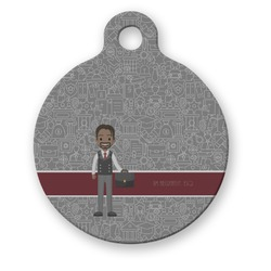 Lawyer / Attorney Avatar Round Pet Tag (Personalized)