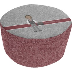 Lawyer / Attorney Avatar Round Pouf Ottoman (Personalized)