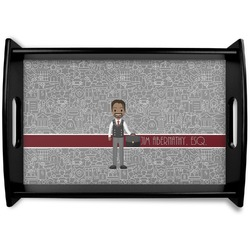 Lawyer / Attorney Avatar Black Wooden Tray (Personalized)