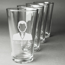 Lawyer / Attorney Avatar Beer Glasses (Set of 4) (Personalized)