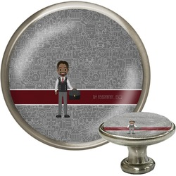 Lawyer / Attorney Avatar Cabinet Knob (Silver) (Personalized)