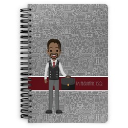 Lawyer / Attorney Avatar Spiral Bound Notebook (Personalized)