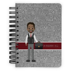 Lawyer / Attorney Avatar Spiral Bound Notebook - 5x7 (Personalized)