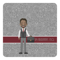 Lawyer / Attorney Avatar Square Decal (Personalized)