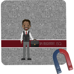 Lawyer / Attorney Avatar Square Fridge Magnet (Personalized)