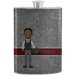 Lawyer / Attorney Avatar Stainless Steel Flask (Personalized)