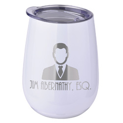 Lawyer / Attorney Avatar Stemless Wine Tumbler - 5 Color Choices - Stainless Steel  (Personalized)