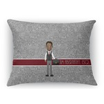 Lawyer / Attorney Avatar Rectangular Throw Pillow Case (Personalized)