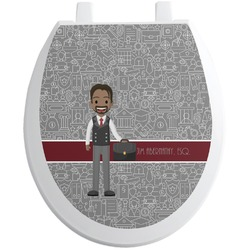 Lawyer / Attorney Avatar Toilet Seat Decal (Personalized)