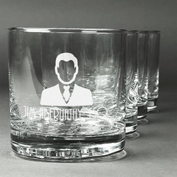 Lawyer / Attorney Avatar Whiskey Glasses (Set of 4) (Personalized)