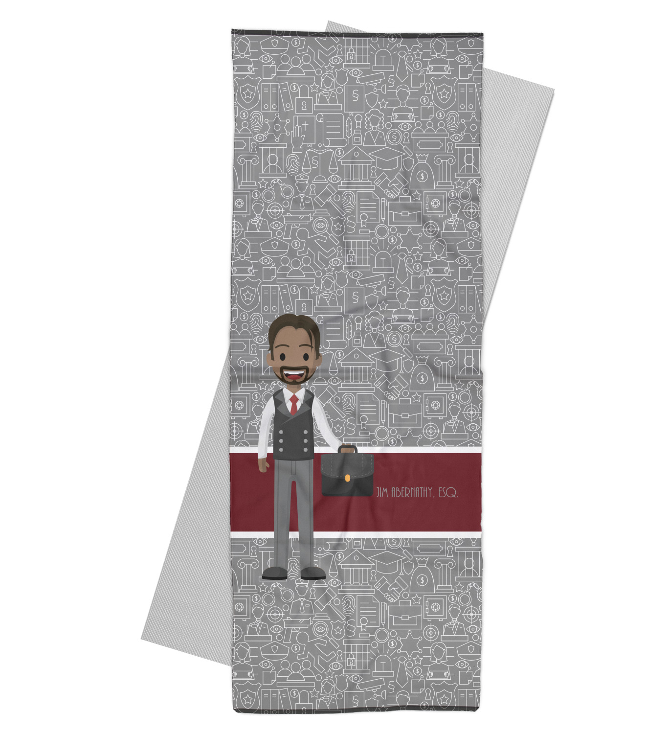 Lawyer / Attorney Avatar Yoga Mat Towel (Personalized