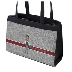Lawyer / Attorney Avatar Zippered Everyday Tote w/ Name or Text