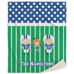 Football Sherpa Throw Blanket (Personalized)