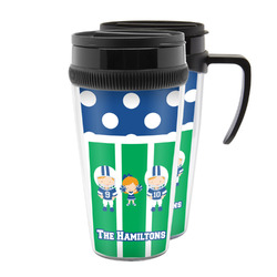 Football Acrylic Travel Mugs (Personalized)