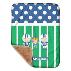 "Football Sherpa Baby Blanket 30"" x 40"" (Personalized)"