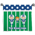 Football Full Print Bath Towel (Personalized)