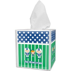 Football Tissue Box Cover (Personalized)