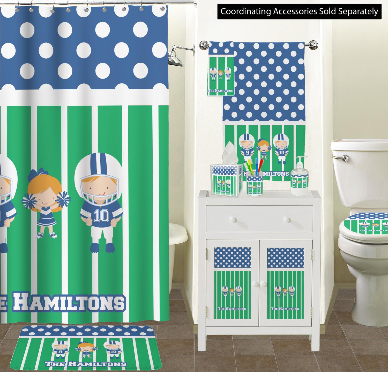 Shower Curtain Football Bathroom Scene