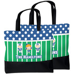 Football Beach Tote Bag (Personalized)