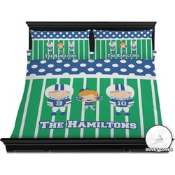 Football Duvet Cover Set - King (Personalized)