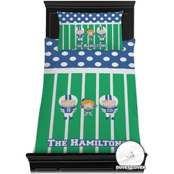 Football Duvet Cover Set - Twin (Personalized)