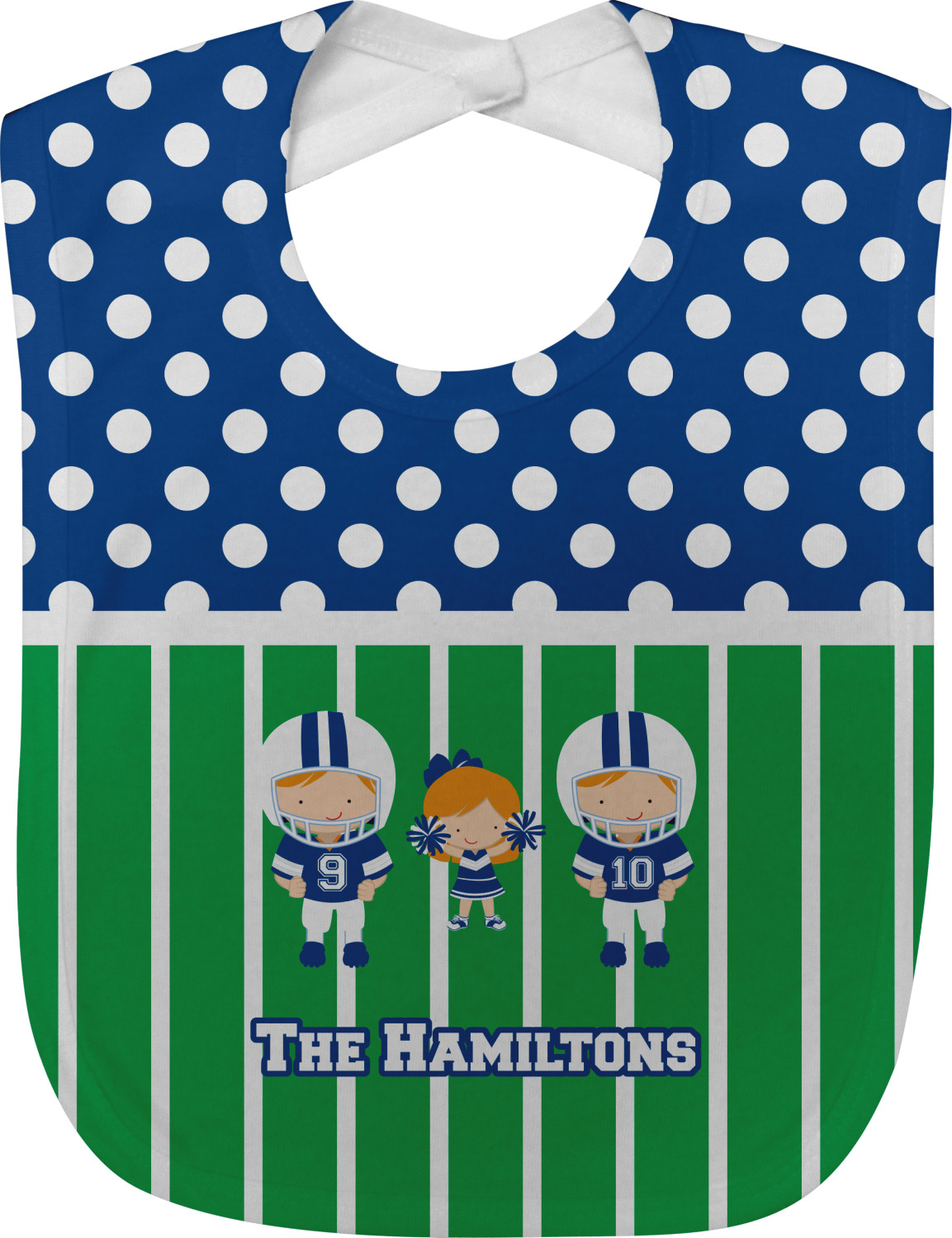 Football Baby Bib Personalized YouCustomizeIt