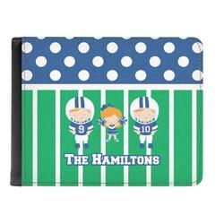 Football Genuine Leather Men's Bi-fold Wallet (Personalized)