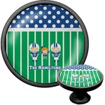Football Cabinet Knob (Black) (Personalized)