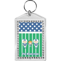 Football Bling Keychain (Personalized)