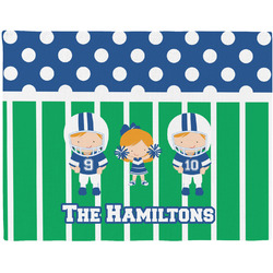 Football Woven Fabric Placemat - Twill w/ Multiple Names