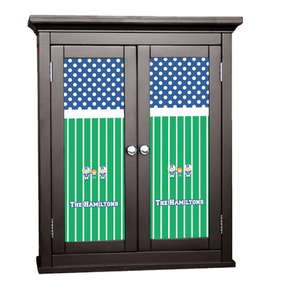 Football Cabinet Decal - Custom Size (Personalized)