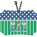 Football Rear View Mirror Ornament (Personalized)
