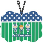 Football Rear View Mirror Charm (Personalized)