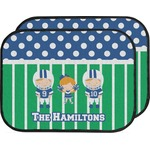 Football Car Floor Mats (Back Seat) (Personalized)