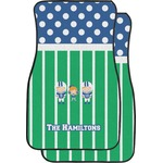 Football Car Floor Mats (Front Seat) (Personalized)