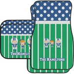 Football Car Floor Mats Set - 2 Front & 2 Back (Personalized)