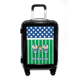 Football Carry On Hard Shell Suitcase (Personalized)