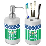 Football Bathroom Accessories Set (Ceramic) (Personalized)