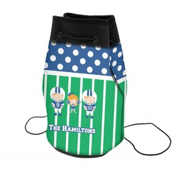 Football Neoprene Drawstring Backpack (Personalized)