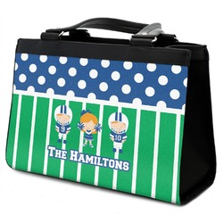 Football Classic Tote Purse w/ Leather Trim (Personalized)