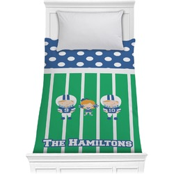 Football Comforter - Twin (Personalized)